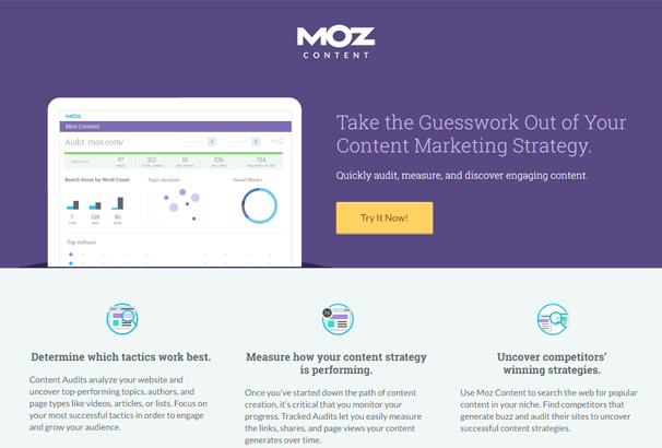 Moz Landing Page with Clear Call to Action Button