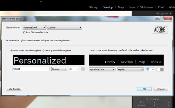 Add Your Logo to Lightroom
