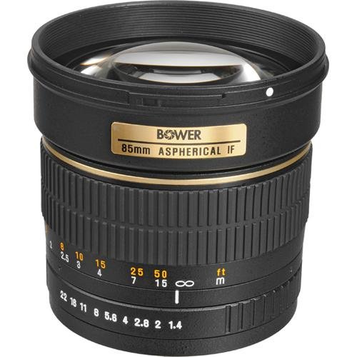 Bower SLY85C High Speed 85mm f/1.4 Telephoto Lens for Canon
