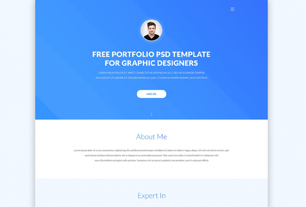 30 Best Free Portfolio Website Psds To Download 2018