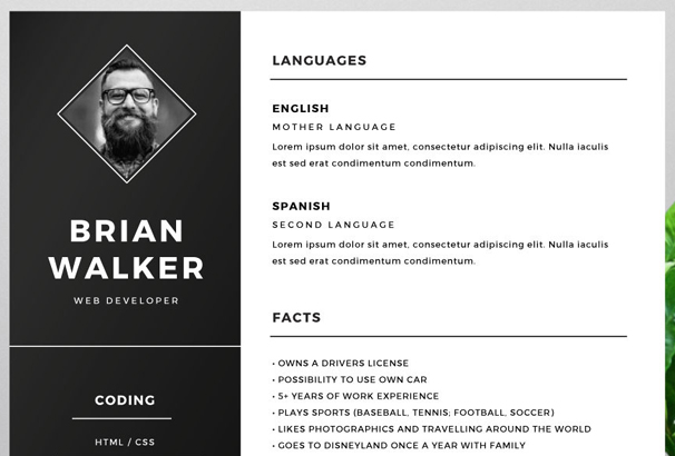 Resume Template Adobe Illustrator 33