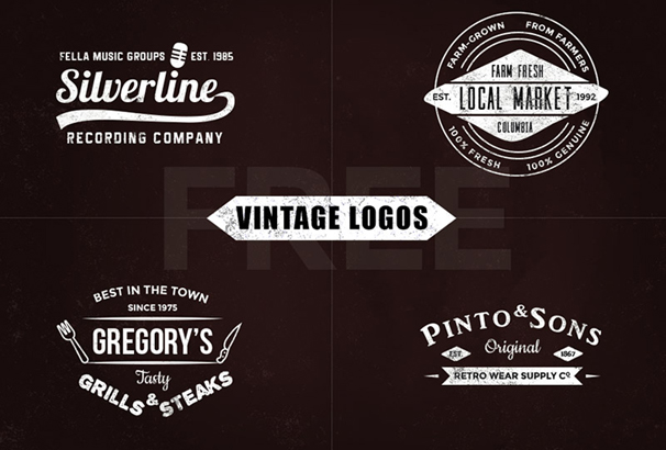 30 Free Vintage Logo Templates In Psd Eps Format 2019