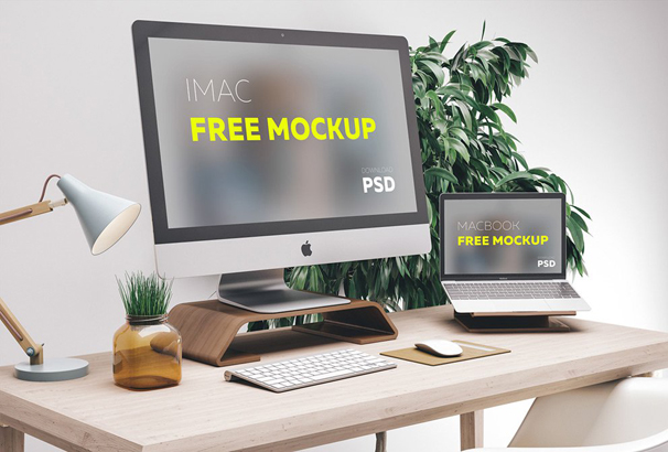 30+ Free Workspace Mockup Templates for Photoshop PSD