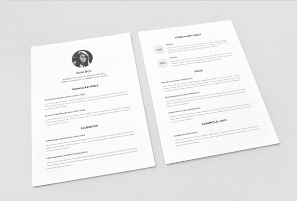 download resume template 40 free resume templates 2018 professional 100 free 21411 | Minimal resume Download