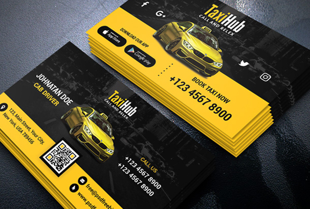 Free business card template psds for photoshop 100 free downloads taxi or cab business tour and travel city transportation services pick and drop services so on it is completely free and available in psd format flashek Images