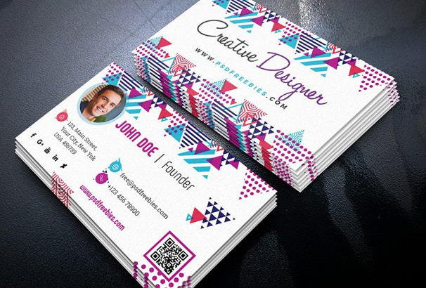Free Business Card Template PSDs For Photoshop Free Downloads - Web design business cards templates