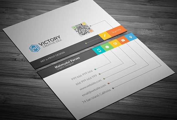 Free Business Card Template PSDs For Photoshop Free Downloads - Free template for business cards