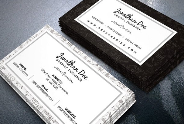 Free Business Card Template PSDs For Photoshop Free Downloads - Business cards templates psd