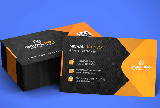 modern corporate business card template psd - Template For Business Cards