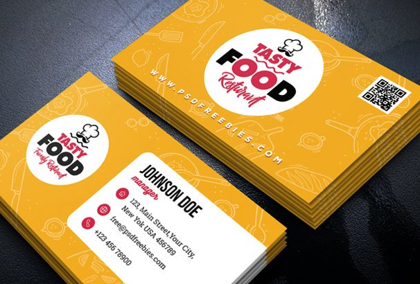 Free business card template psds for photoshop 100 free downloads business card template bundle that is perfect for restaurant bar hotel cafe shop etc it is designed and created in photoshop flashek