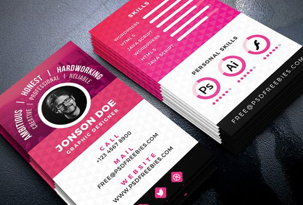 Free business card template psds for photoshop 100 free downloads resume style business card psd template it is perfect for freelance designer graphic designer or any company agency and organization accmission Image collections