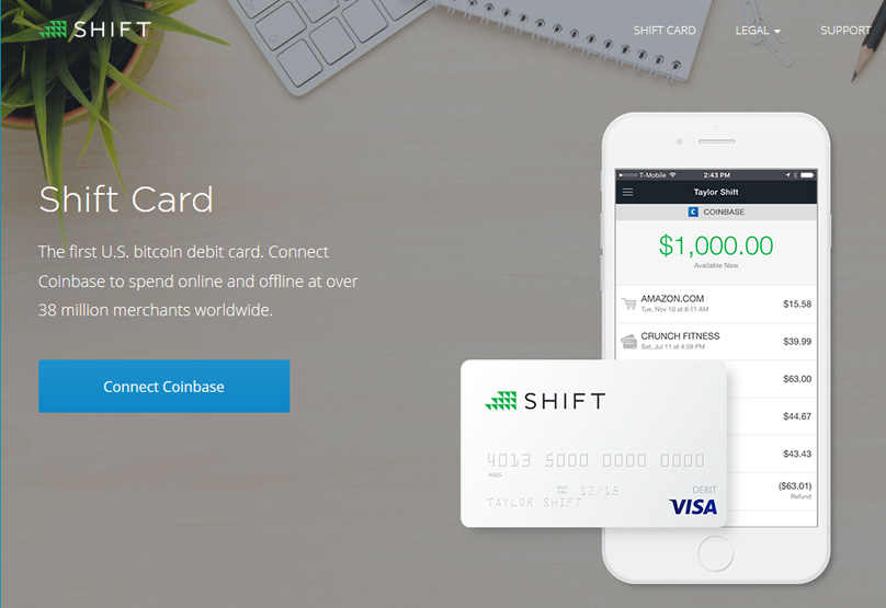 Coinbase Shift Card